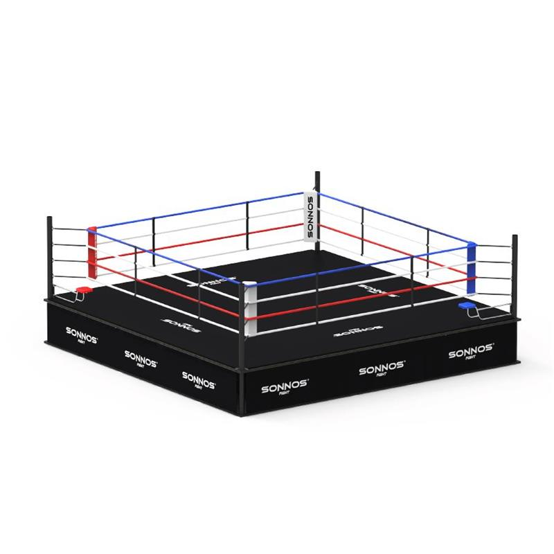 RING BOXEO SONNOS PROFESIONAL 5mts x 5mts x 90cm (medidas oficiales FAB FIB)
